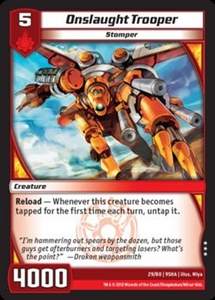 Kaijudo Shattered Alliances Single Card Rare #29 Onslaught Trooper