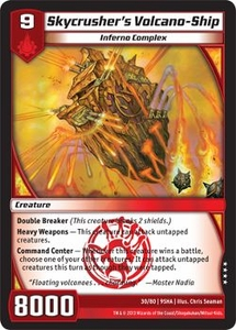 Kaijudo Shattered Alliances Single Card  #30 Skycrusher's Volcano-Ship
