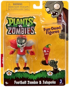 Plants vs Zombies 3 Inch Figure 2-Pack Football Zombie & Jalapeno