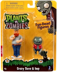 Plants vs Zombies 3 Inch Figure 2-Pack Crazy Dave & Imp