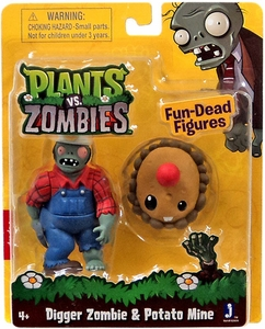 Plants vs Zombies 3 Inch Figure 2-Pack Digger Zombie & Potato Mine
