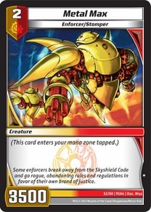 Kaijudo Shattered Alliances Single Card Common #52 Metal Max