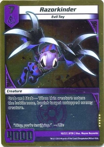 Kaijudo Triple Strike Single Card Rare #10 Razorkinder