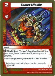 Kaijudo Triple Strike Single Card Common #14 Comet Missile