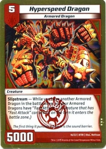 Kaijudo Triple Strike Single Card Rare #16 Hyperspeed Dragon