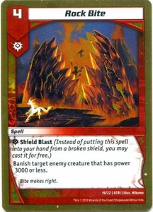 Kaijudo Triple Strike Single Card Uncommon #19 Rock Bite