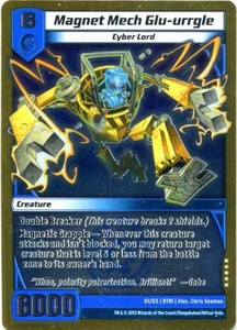 Kaijudo Triple Strike Single Card Super Rare #D1 Magnet Mech Glu-urrgle