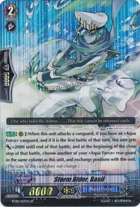 Cardfight Vanguard ENGLISH Blue Storm Armada Single Card SP Rare BT08-S07 Storm Rider, Basil