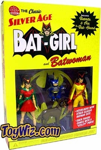 DC Direct Silver Age Deluxe Action Figure 2-Pack Batwoman & Batgirl with Bat-Mite & Bat-Hound