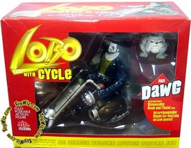 DC Direct Deluxe Action Figure Lobo with Cycle & Dawg