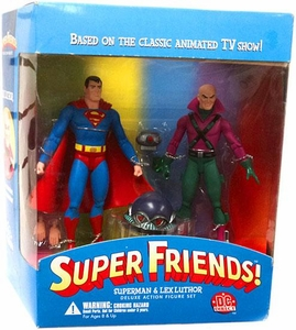 DC Direct Super Friends Deluxe Action Figure Set Superman & Lex Luthor