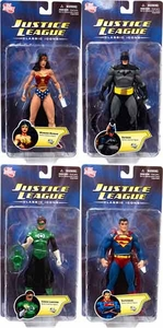 DC Direct Justice League: Classic Icons Series 1 Set of 4 Action Figures [Batman, Green Lantern, Superman & Wonder Woman]