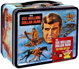 Bif Bang Pow! Six Million Dollar Man Exclusive Tin Tote Gift Set [with Travel Mug & Coasters]