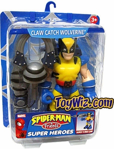 Spider-Man & Friends Super Heroes Action Figure Claw Catch Wolverine