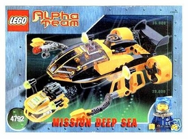 LEGO Alpha Team Set #4792 Alpha Team Navigator and ROV