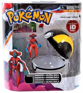 Pokemon TOMY Clip 'n Carry Poke Ball Deoxys & Ultra Ball