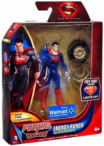 Man of Steel Movie Powers of Krypton Exclusive Action Figure Energy Punch Superman