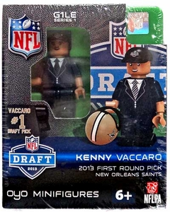 OYO Football NFL Draft First Round Picks Building Brick Minifigure Kenny Vaccaro [New Orleans Saints] #15 Draft Pick