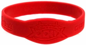 Official NFL Super Bowl XXXIX New England Patriots Championship Rubber Bracelet [Red]