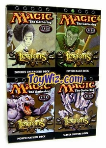 Magic the Gathering Legions Theme Deck Set of 4 Decks