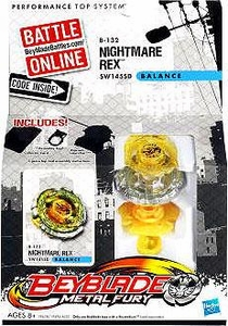 Beyblades Metal Fury Balance Battle Top #B132 Nightmare Rex