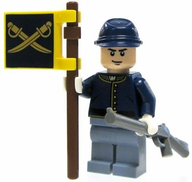 LEGO Lone Ranger LOOSE Mini Figure Cavalry Trooper Standard Bearer