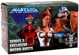 NECA He-Man Masters of the Universe Exclusive 2006 SDCC Series 3 Micro Bust 3-Pack [Teela, Mekanek & Man-At-Arms]