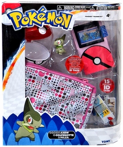 Pokemon TOMY Black & White Pokedex Pink Version Training Kit with Axew