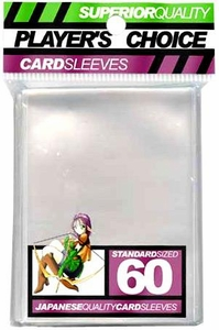 Players Choice Card Supplies Standard Card Sleeves Clear [60 Count]
