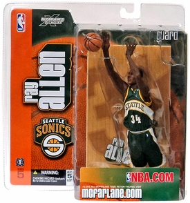 McFarlane Toys NBA Sports Picks Series 5 Action Figure Ray Allen (Seattle Supersonics) Green Jersey
