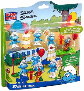 The Smurfs Mega Bloks Set #10767 Smurfs Celebration