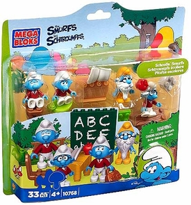 The Smurfs Mega Bloks Set #10768 Schoolin' Smurfs