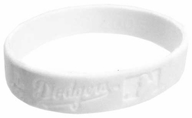 Official MLB Team Rubber Bracelet L. A. Dodgers [White]