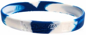 Official MLB Team Rubber Bracelet L. A. Dodgers [Marble Color]