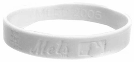 Official MLB Team Rubber Bracelet New York Mets [White]