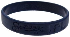 Official  Team Rubber Bracelet Milwaukee Brewers [Blue]
