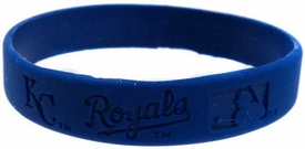 Official MLB Major League Baseball Team Rubber Bracelet Kansas City Royals [Blue]