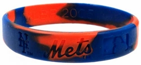 Official MLB Team Rubber Bracelet New York Mets [Marble]