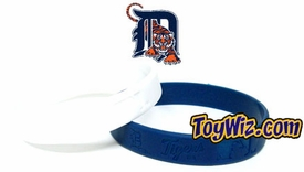 Official MLB Team Rubber Bracelet Detroit Tigers [White]