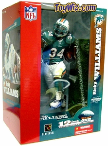 McFarlane Toys NFL Sports Picks 12 Inch DELUXE Action Figure Ricky Williams (Miami Dolphins) Green Jersey