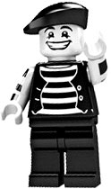 LEGO Minifigure Collection Series 2 LOOSE Mini Figure Mime Artist