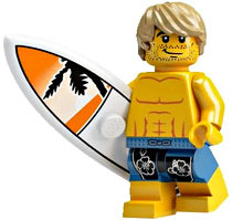 LEGO Minifigure Collection Series 2 LOOSE Mini Figure Surfer Dude