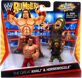 WWE Wrestling Rumblers Mini Figure 2-Pack Great Khali & Hornswoggle