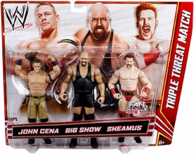 Mattel WWE Wrestling Exclusive Action Figure 3-Pack John Cena, Big Show & Sheamus [Triple Threat Match]