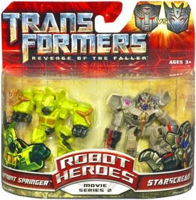 Transformers 2: Revenge of the Fallen Movie Robot Heroes 2-Pack Starscream Vs. Autobot Springer
