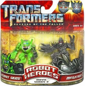 Transformers 2: Revenge of the Fallen Movie Robot Heroes 2-Pack Megatron Vs. Autobot Skids
