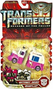 Transformers 2: Revenge of the Fallen Deluxe Action Figure Autobot Skids & Mudflap [Ice Cream Truck]