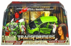 Transformers 2: Revenge of the Fallen Movie Human Alliance Skids with Mikaela Barnes & Arcee
