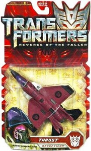 Transformers 2: Revenge of the Fallen Deluxe Action Figure Thrust Damaged Package, Mint Contents!