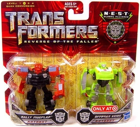 Transformers 2: Revenge of the Fallen Movie Exclusive Global Alliance 2-Pack Rally Mudflap & Offroad Skids